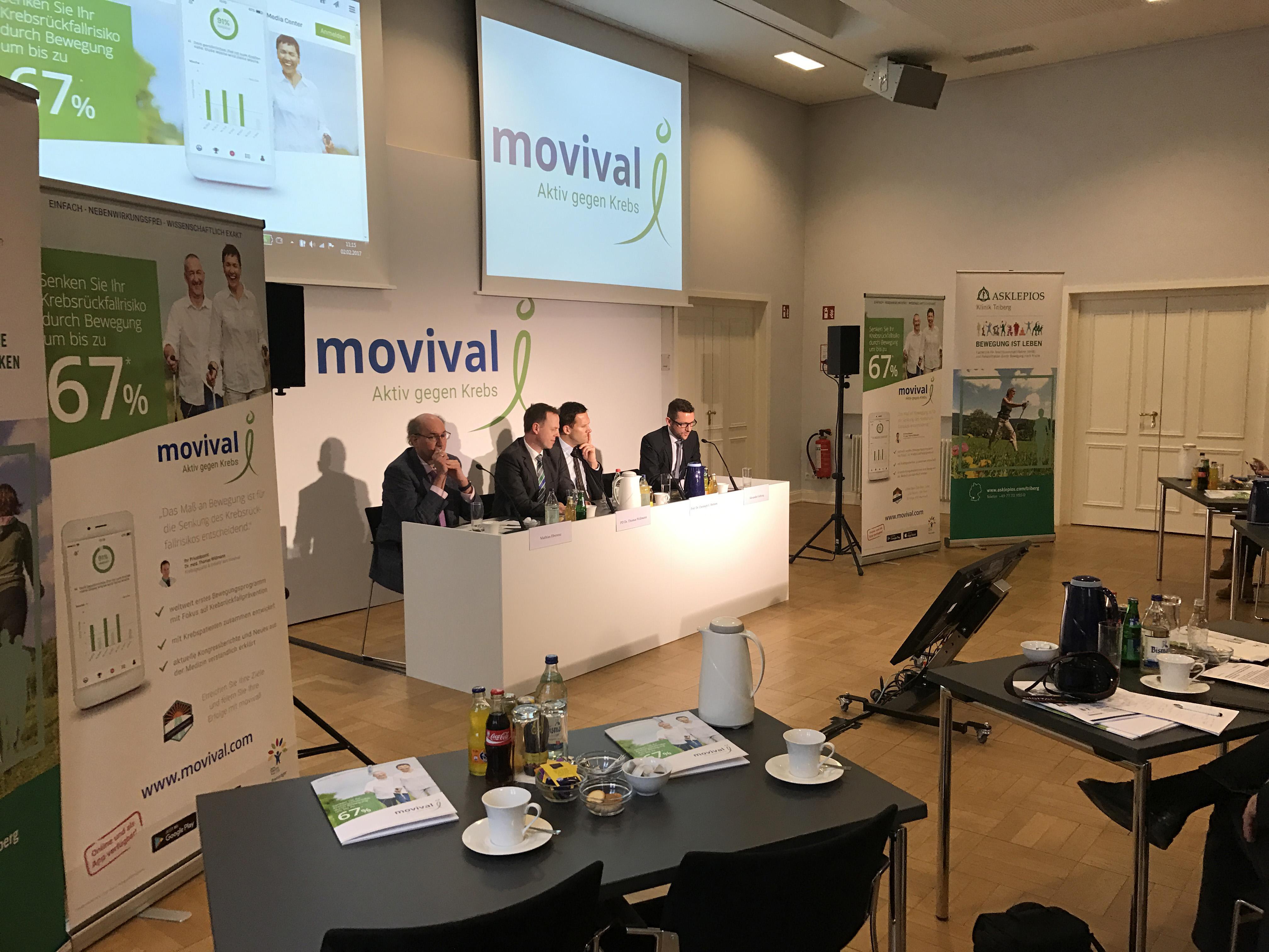 Pressekonferenz von movival und Asklepios Kliniken zum Start der movival-App am 2. Februar 2017
