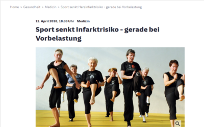 Sport senkt Infarktrisiko – gerade bei Vorbelastung (Süddeutsche Zeitung)